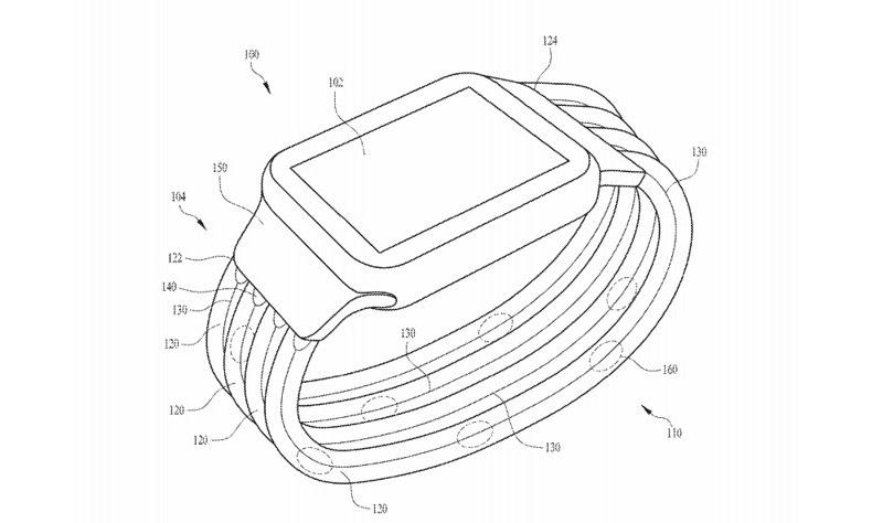 苹果再获新专利,未来 Apple Watch 表带可以自定义灯光效果