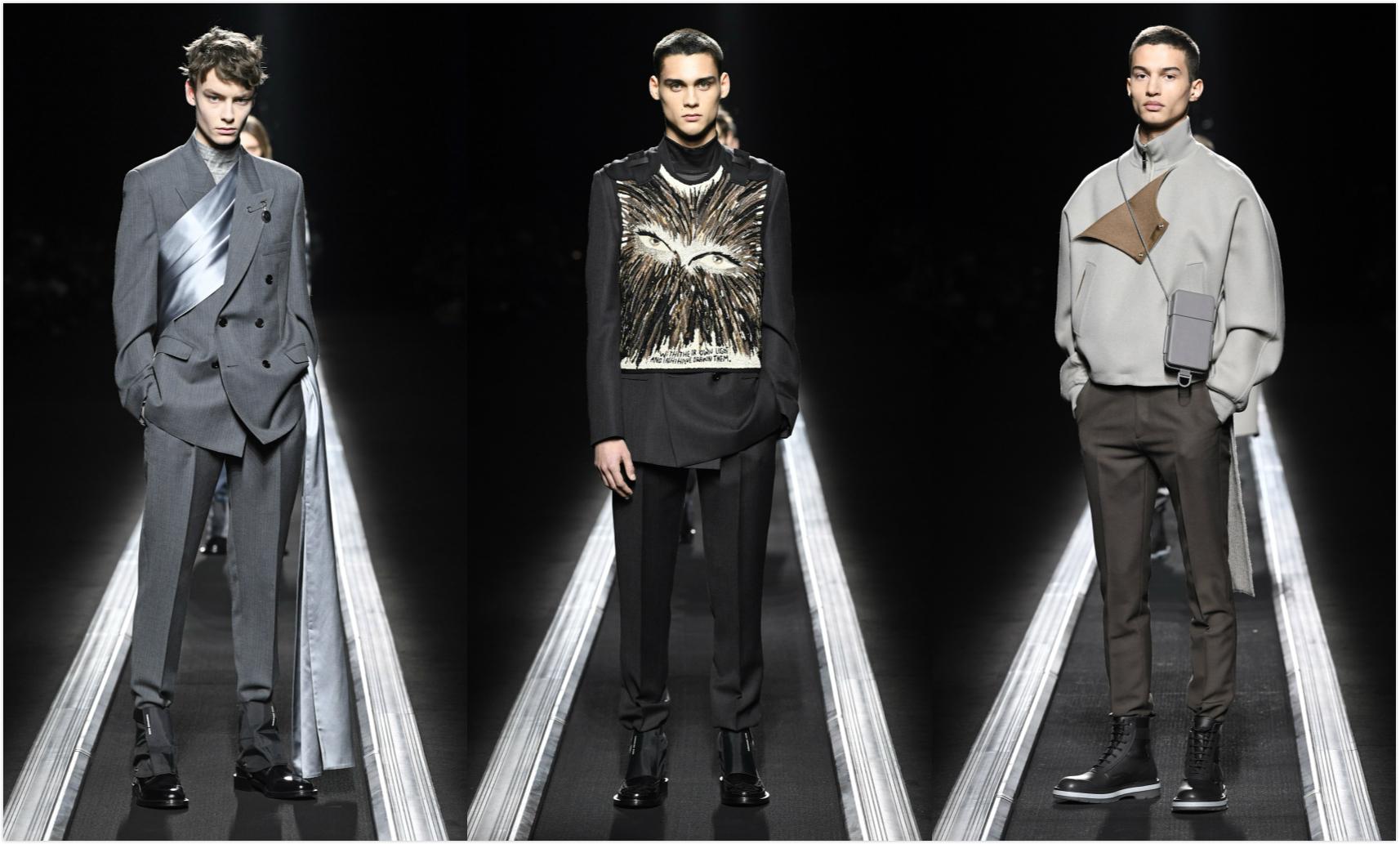 """一场把模特变成雕塑的 """"走秀"""",Dior Men 2019 秋冬系列发布"""