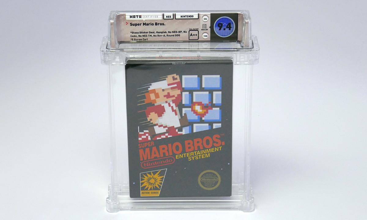任天堂 NES《超级马里奥兄弟》第一版卡带以天价拍卖