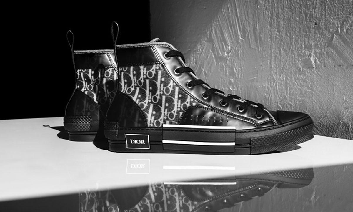 新热款?Dior 发布纯黑版本 B23 Oblique 运动鞋