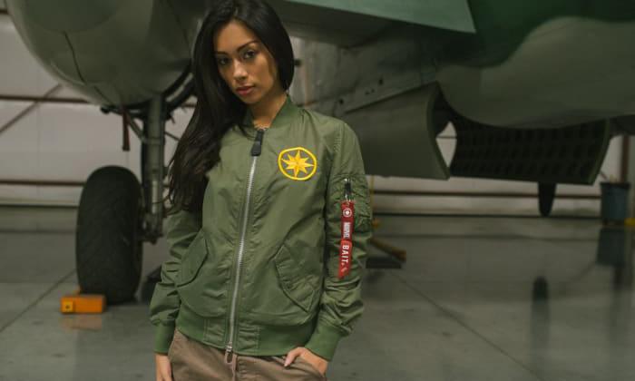 BAIT x Captain Marvel x Alpha Industries 三方联名飞行夹克开售