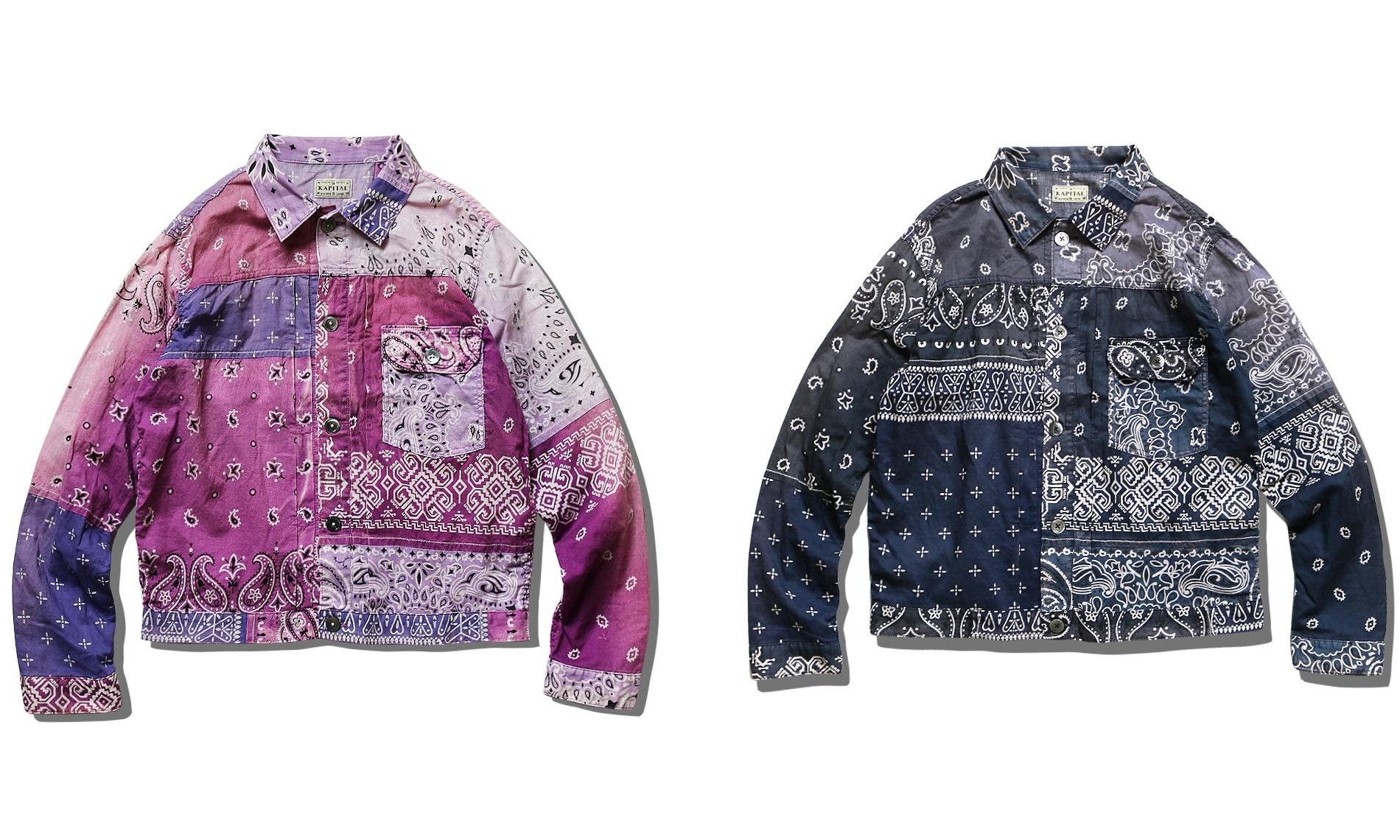 KAPITAL 新款 Bandana 拼布夹克系列现已开售