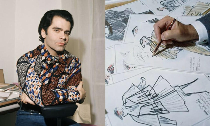 Karl Lagerfeld 的 125 张亲笔手稿即将拍卖