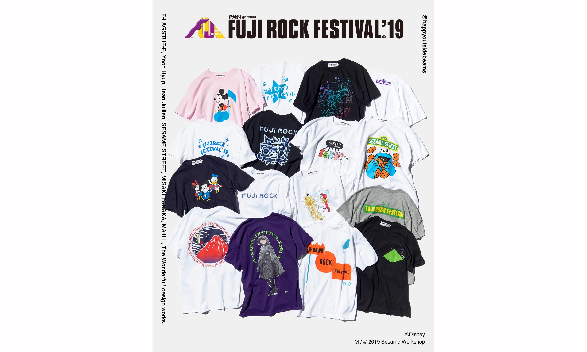 FUJI ROCK FESTIVAL x BEAMS T 2019 联乘系列发布