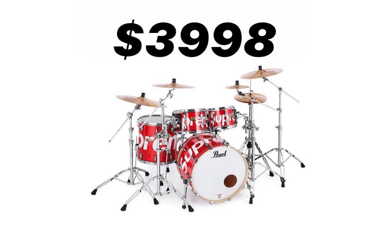 又一天价单品诞生,Supreme x Pearl 架子鼓套装售价曝光