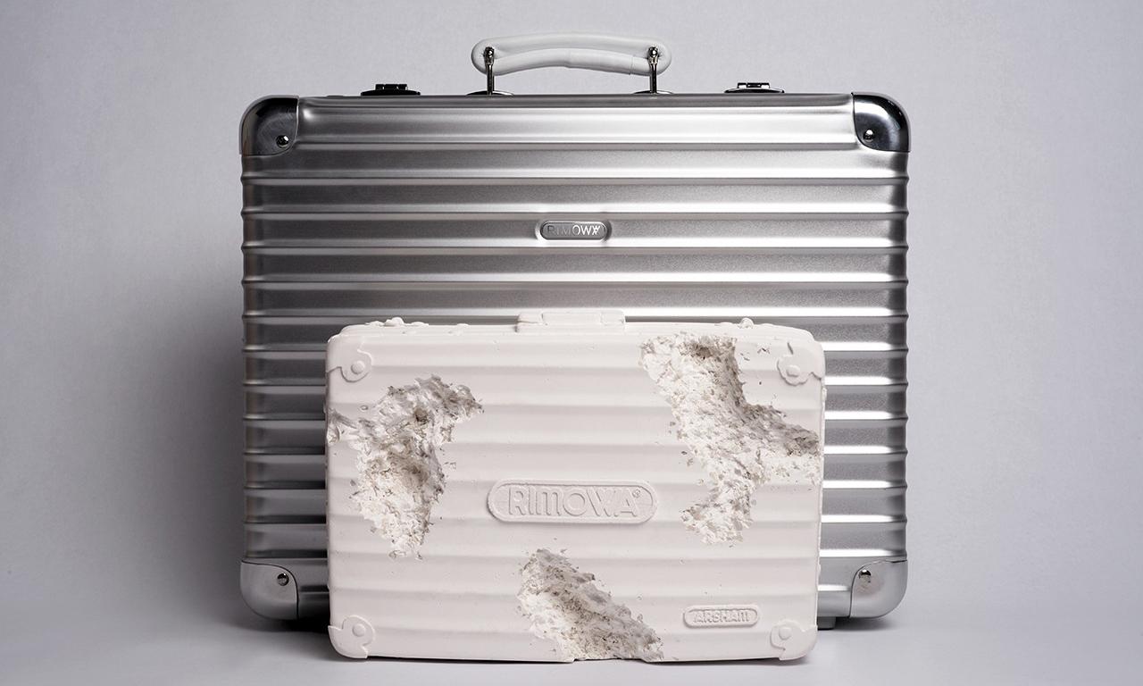 Daniel Arsham 打造 RIMOWA 手提箱雕塑