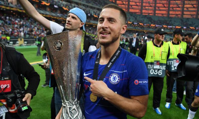 阿扎尔用欧联杯冠军告别切尔西,下一站皇马