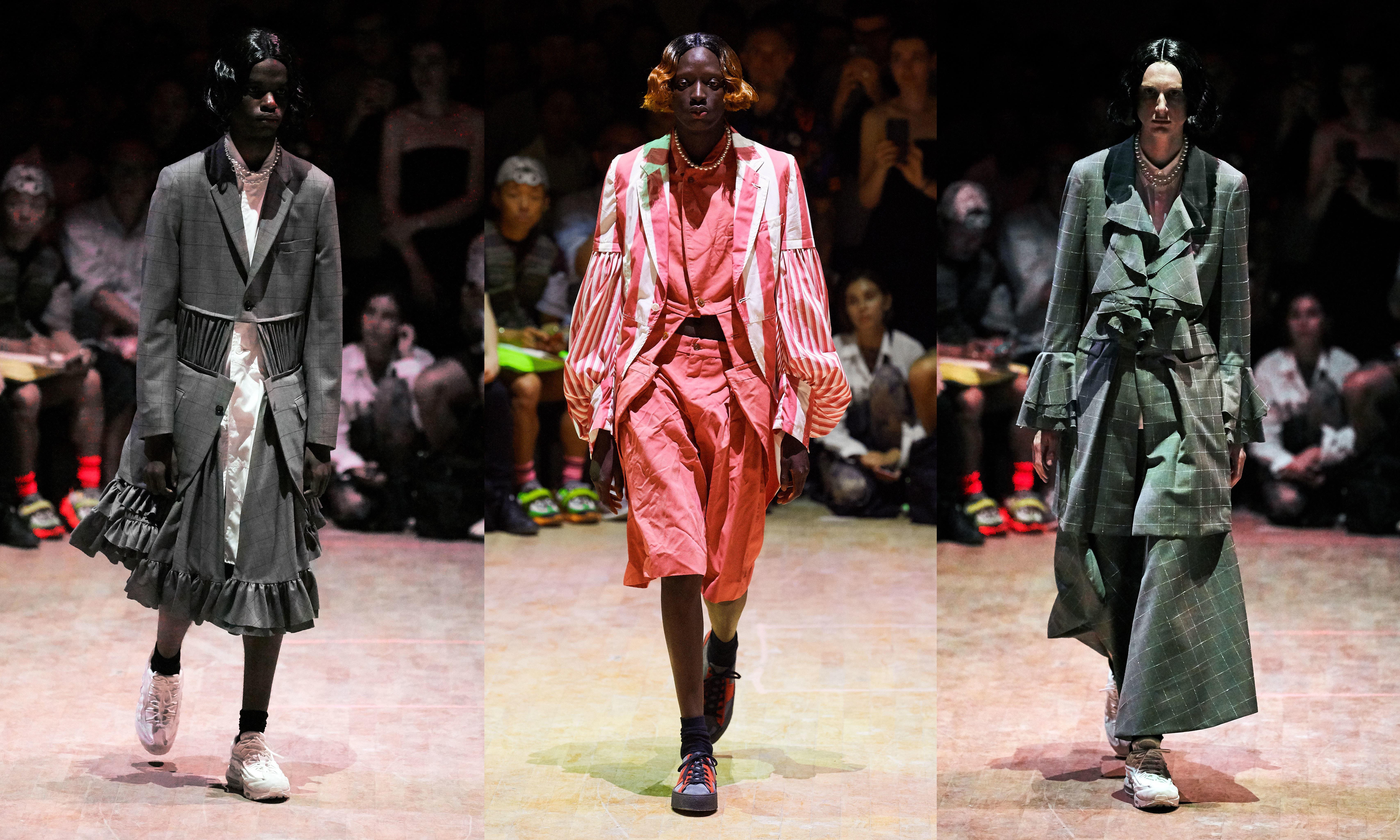 COMME des GARÇONS Homme Plus 2020 春夏男装系列,如男似女的设计