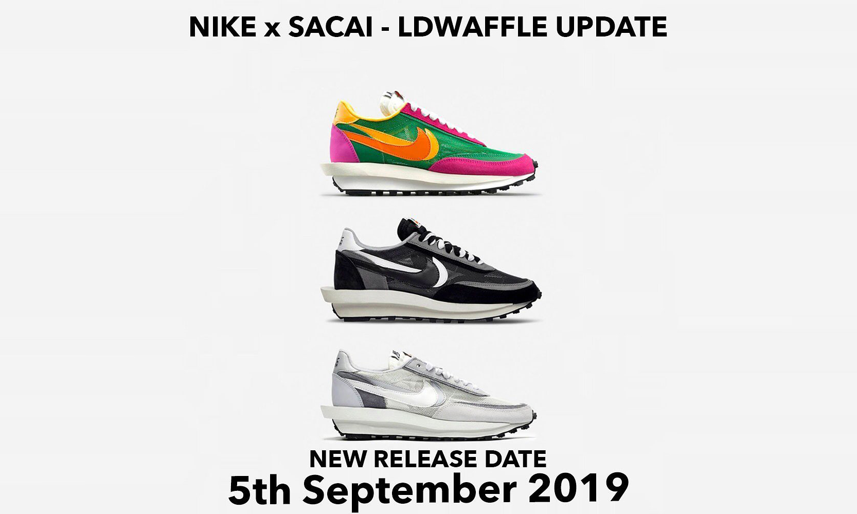 再度跳票!sacai x Nike LDWaffle 联名新配色发售又推迟