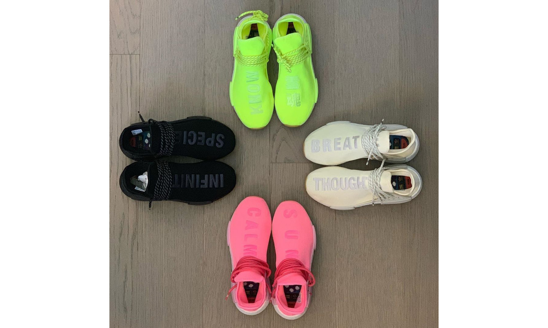 Pharrell Williams x adidas Originals Hu NMD 4 款新配色即将登场