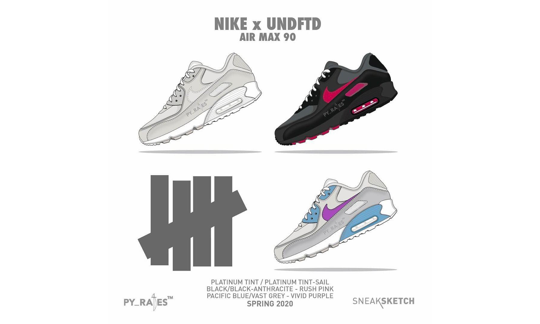 UNDEFEATED x Nike Air Max 90 联名系列发售计划曝光