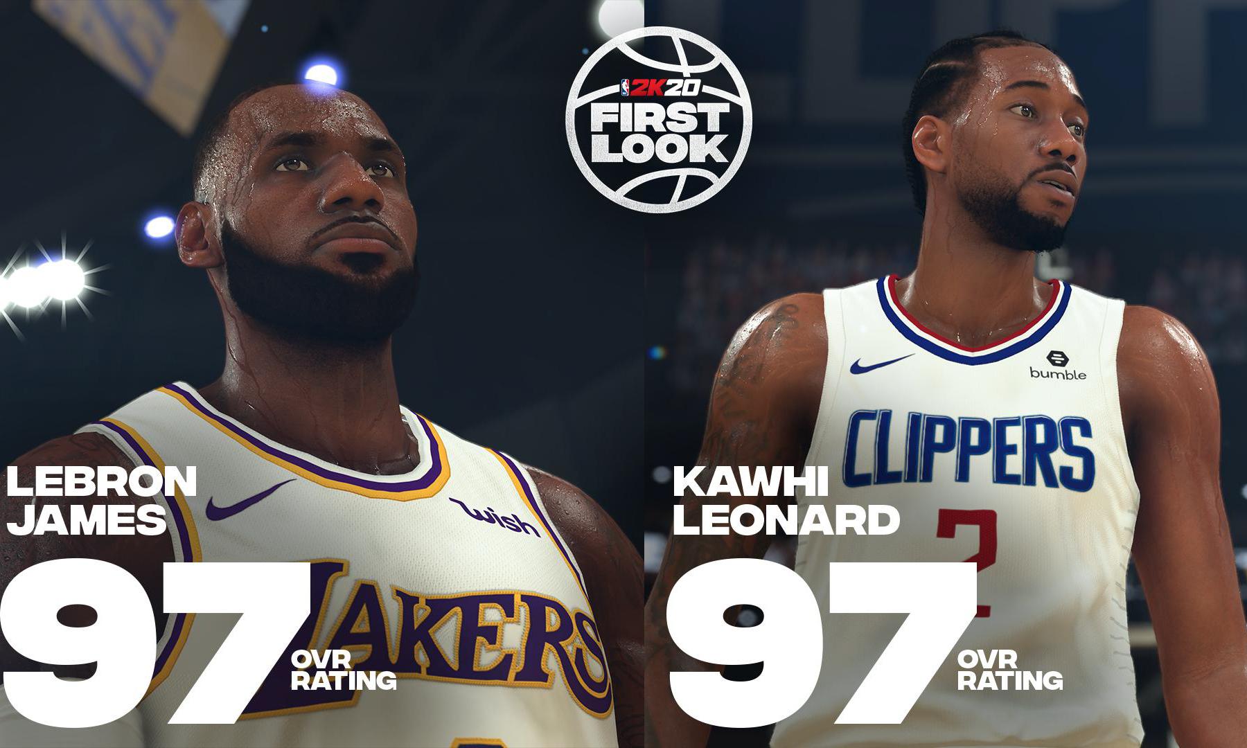 NBA 2K20 部分球员能力值公布