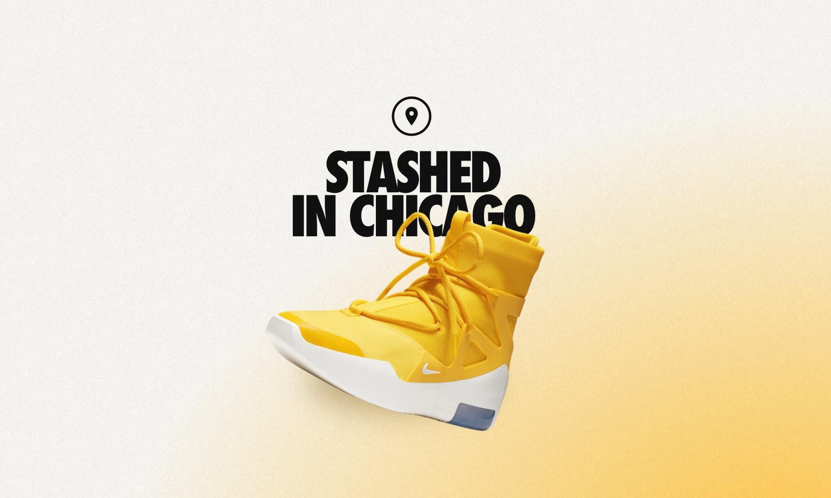 "Nike Air Fear of God 1 ""Amarillo"" 于芝加哥突袭发售"