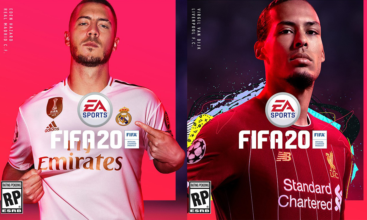 哈扎尔与范迪克分别当选《FIFA 20》封面人物