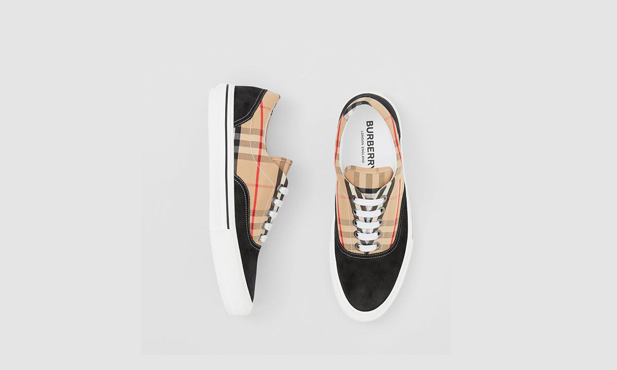 Burberry 带来全新复古格纹系列鞋款