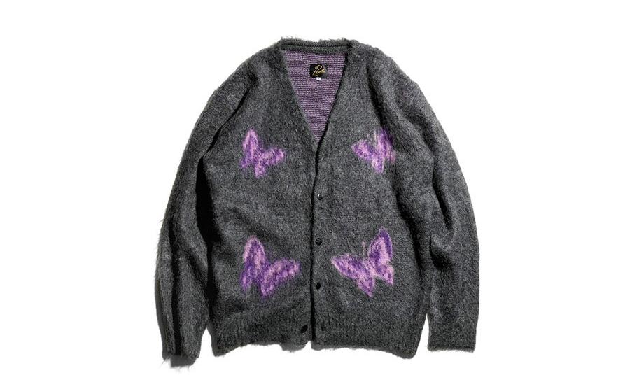 迎接秋冬,Needles 释出新款马海毛开襟羊毛衫