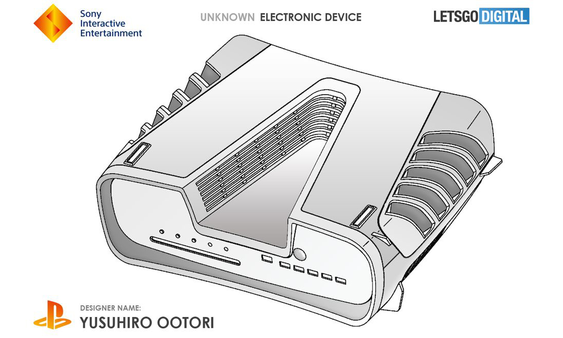 """深 V"" 造型,索尼 PlayStation 5 外观设计曝光"
