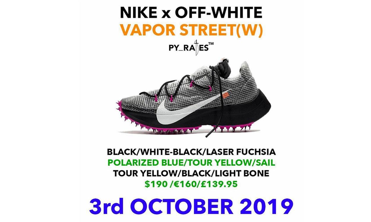 Off-White™ x Nike Vapor Street 联名鞋款发售日期曝光