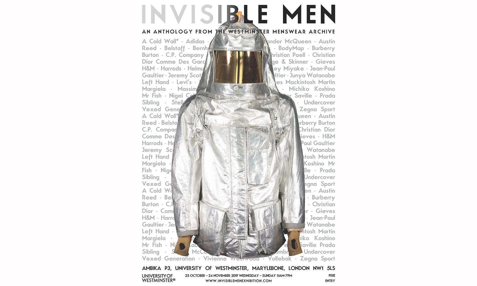 研究男装设计语言,展览《Invisible Men》即将于伦敦展开