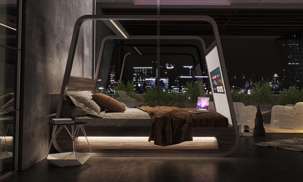 """家具品牌 Hi-Interiors 打造 4K """"投影屏幕"""" 智能床"""