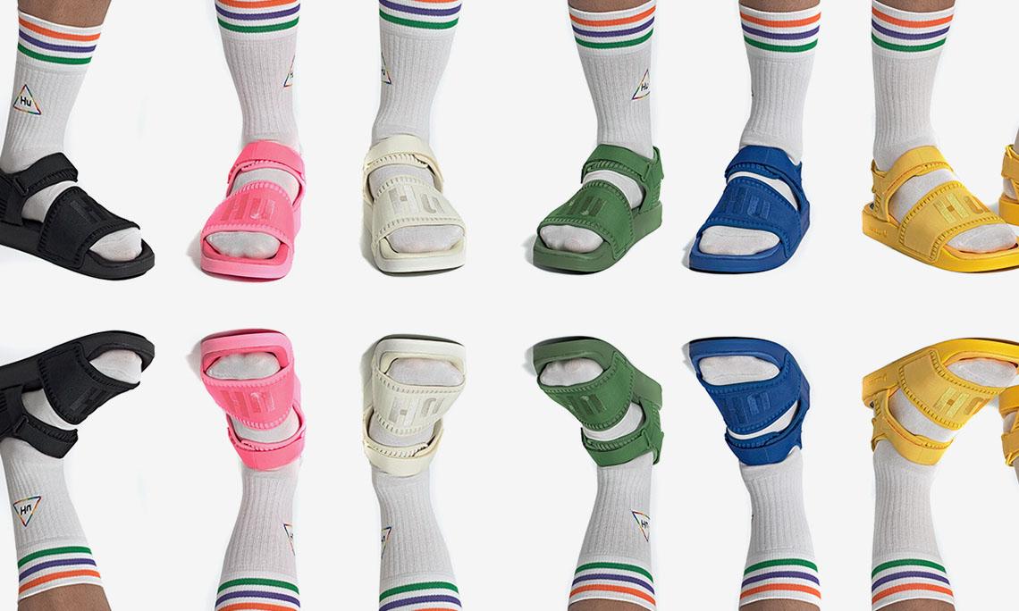 Pharrell 为 adidas 合作系列添加凉鞋款式