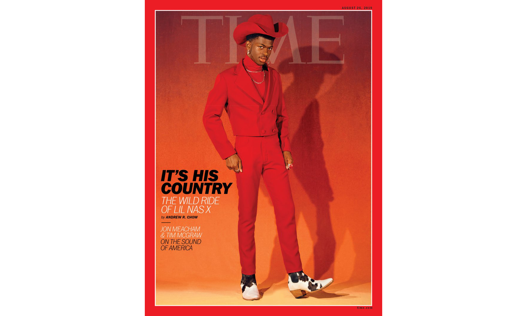 一路爆红,Lil Nas X 登上《TIME》杂志封面