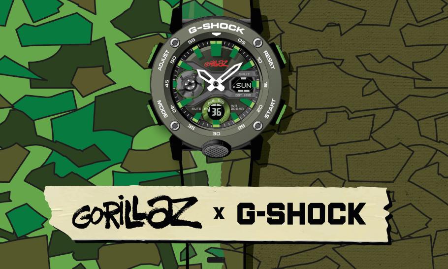 汲取专辑设计,Gorillaz x G-SHOCK 联名腕表系列登场