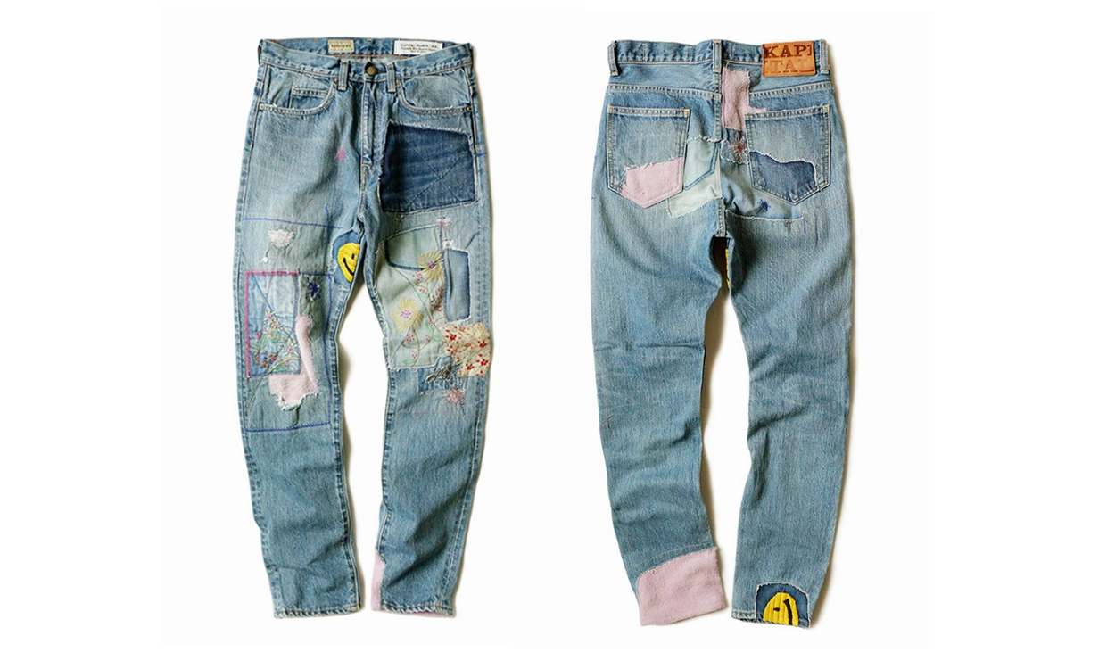 KAPITAL 14oz Denim 5P OKABILLY 拼接牛仔裤正式发售