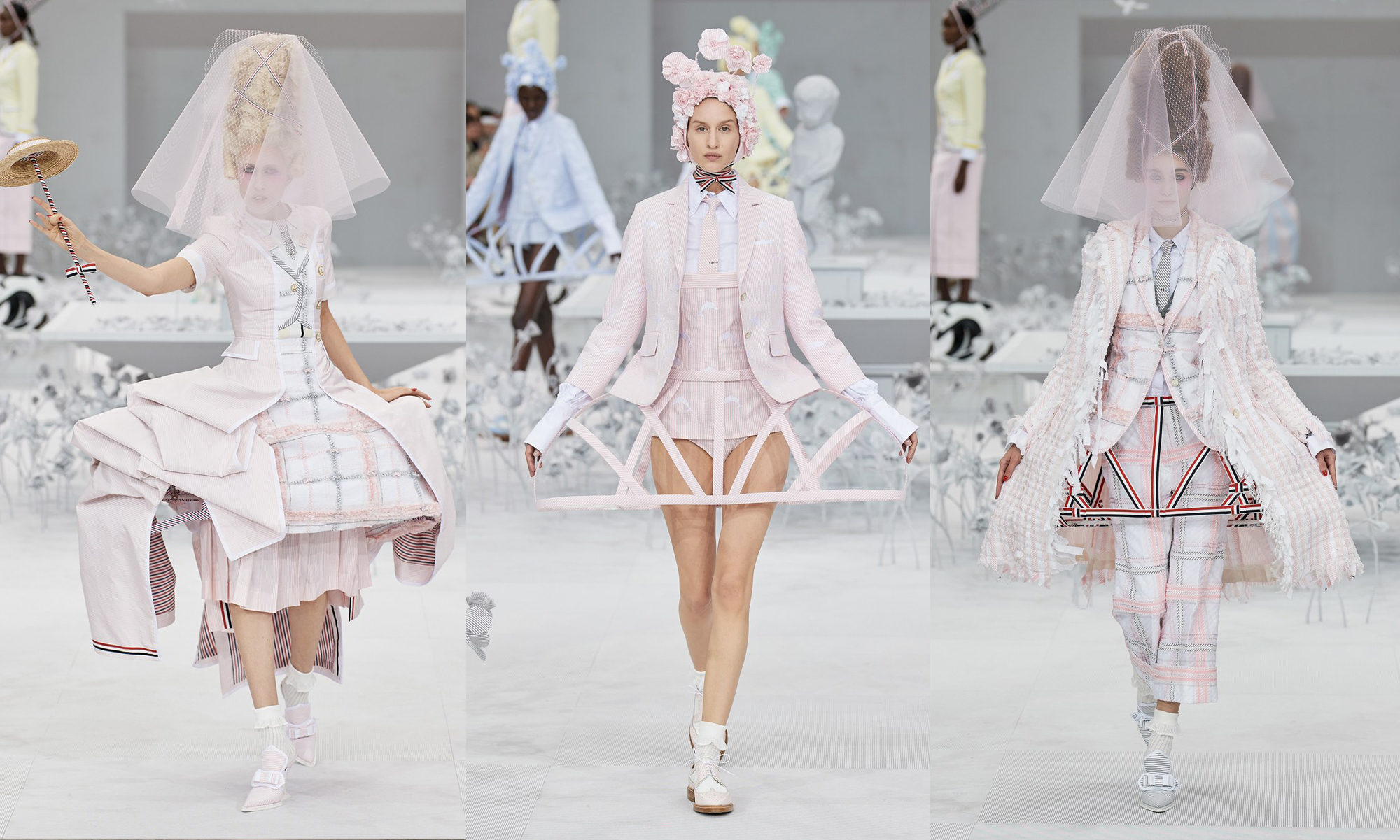 法国花园中的异想天开,Thom Browne 2020 春季成衣系列秀场回顾