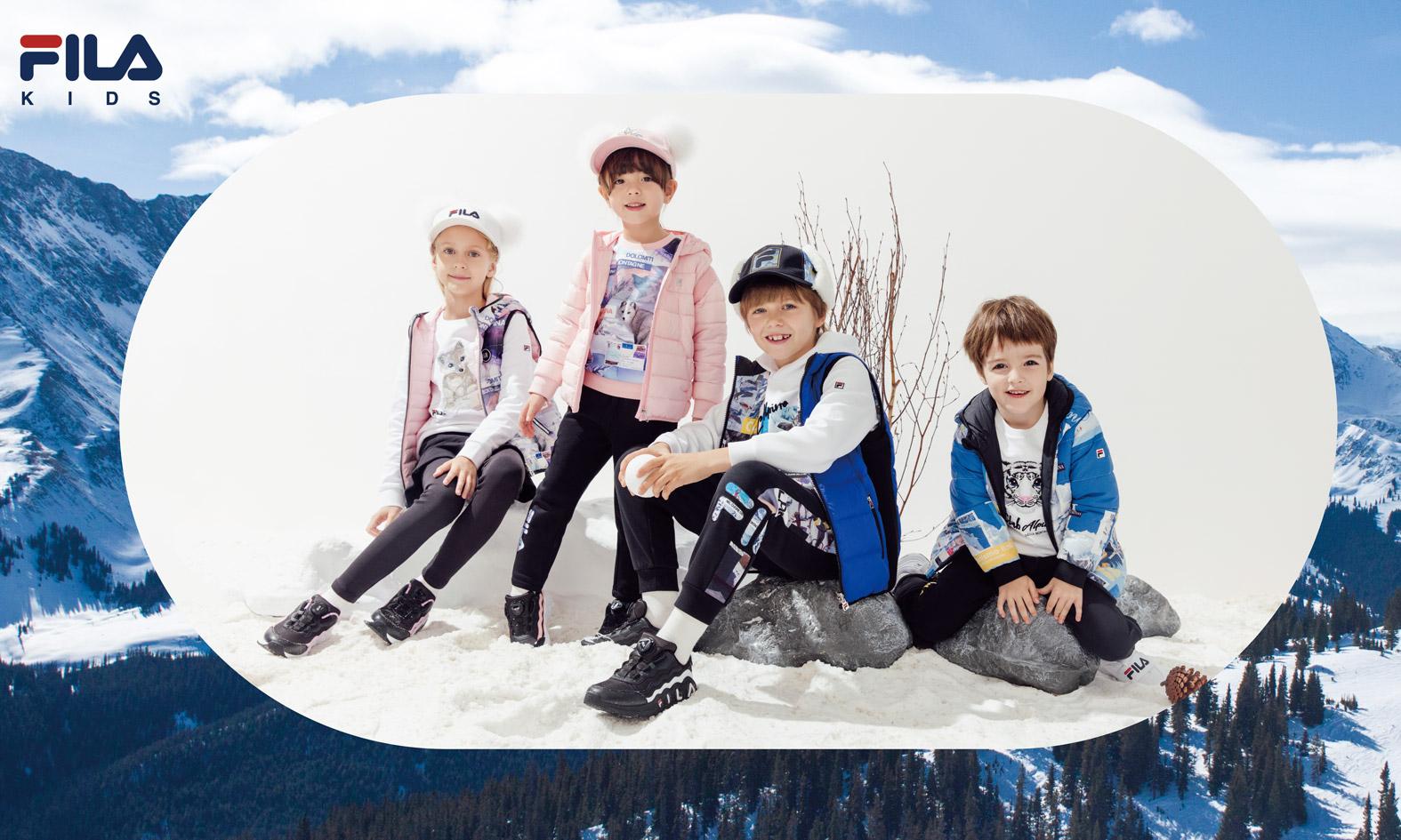 冬日童趣,FILA KIDS WHITE LINE 意境探奇系列服饰