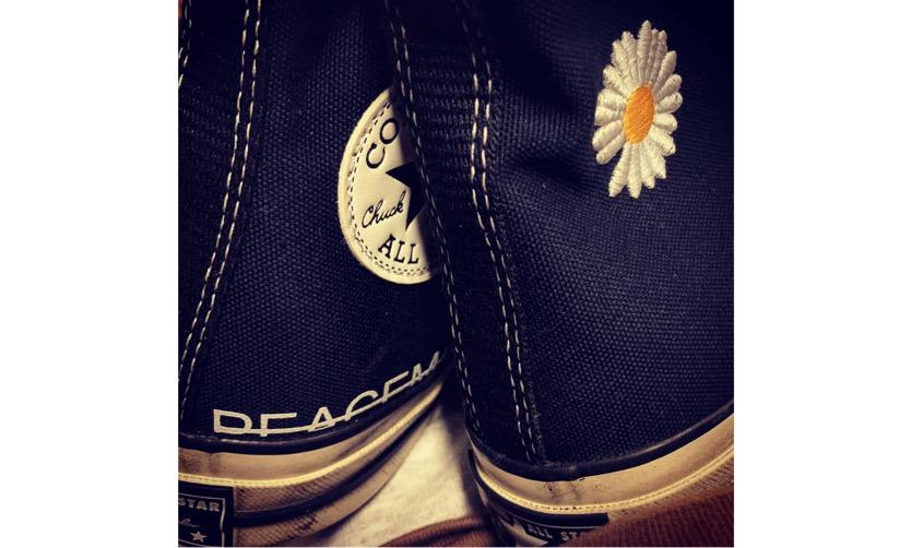 PEACEMINUSONE x CONVERSE Chuck 1970s 联名鞋款首度亮相