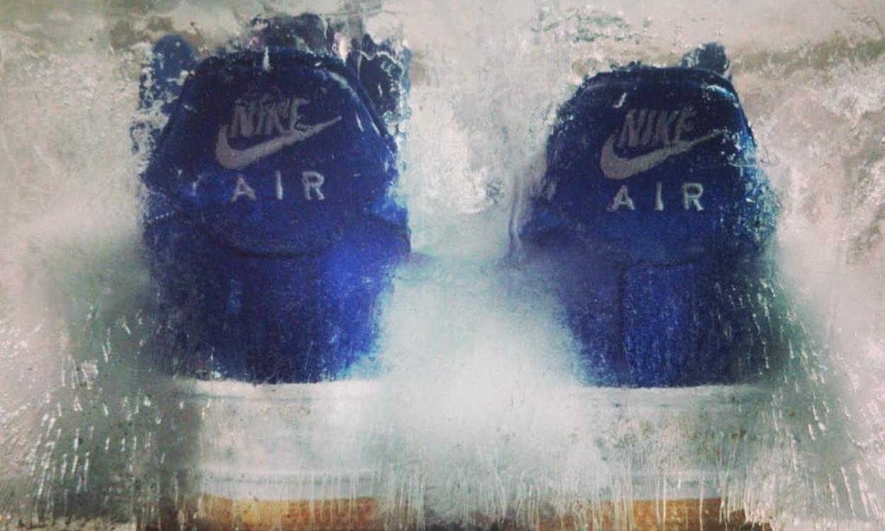 "Dr.Woo 亲晒,CLOT x Nike Air Force 1 蓝丝绸 ""破坏形态"" 正式曝光"