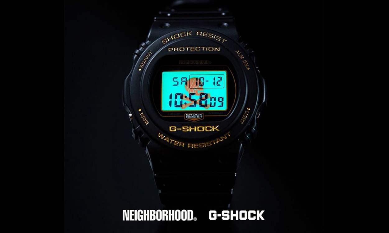 NEIGHBORHOOD x G-SHOCK 全新联名 DW-5750 腕表正式发布