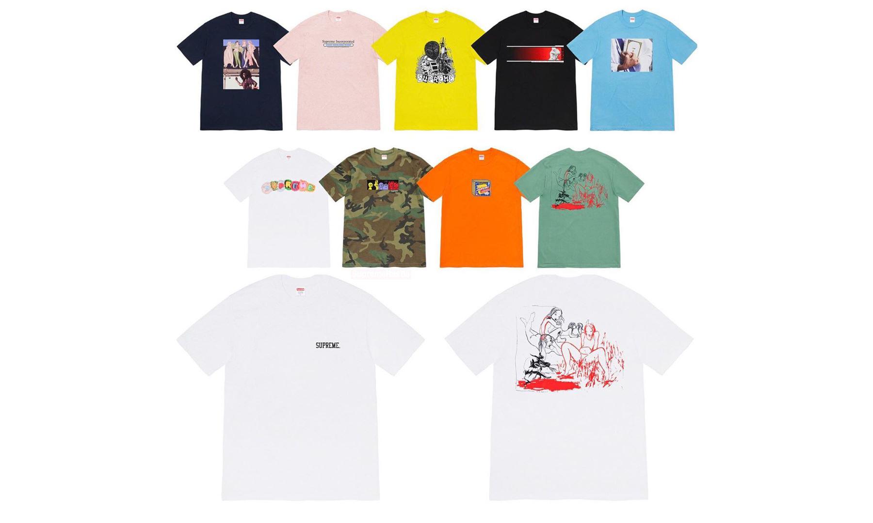Supreme 2019 秋冬 T恤系列新品预览