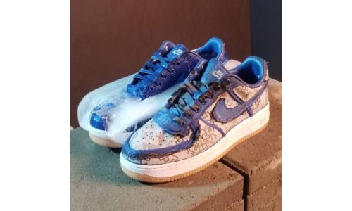 CLOT x Nike Air Force 1 蓝丝绸下的「秘密」是这样