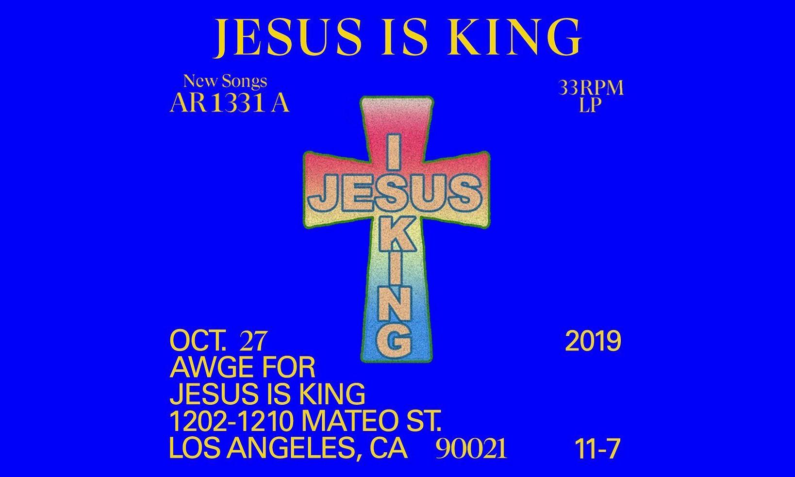 AWGE 为 Kanye West 新专辑《Jesus Is King》打造别注系列单品