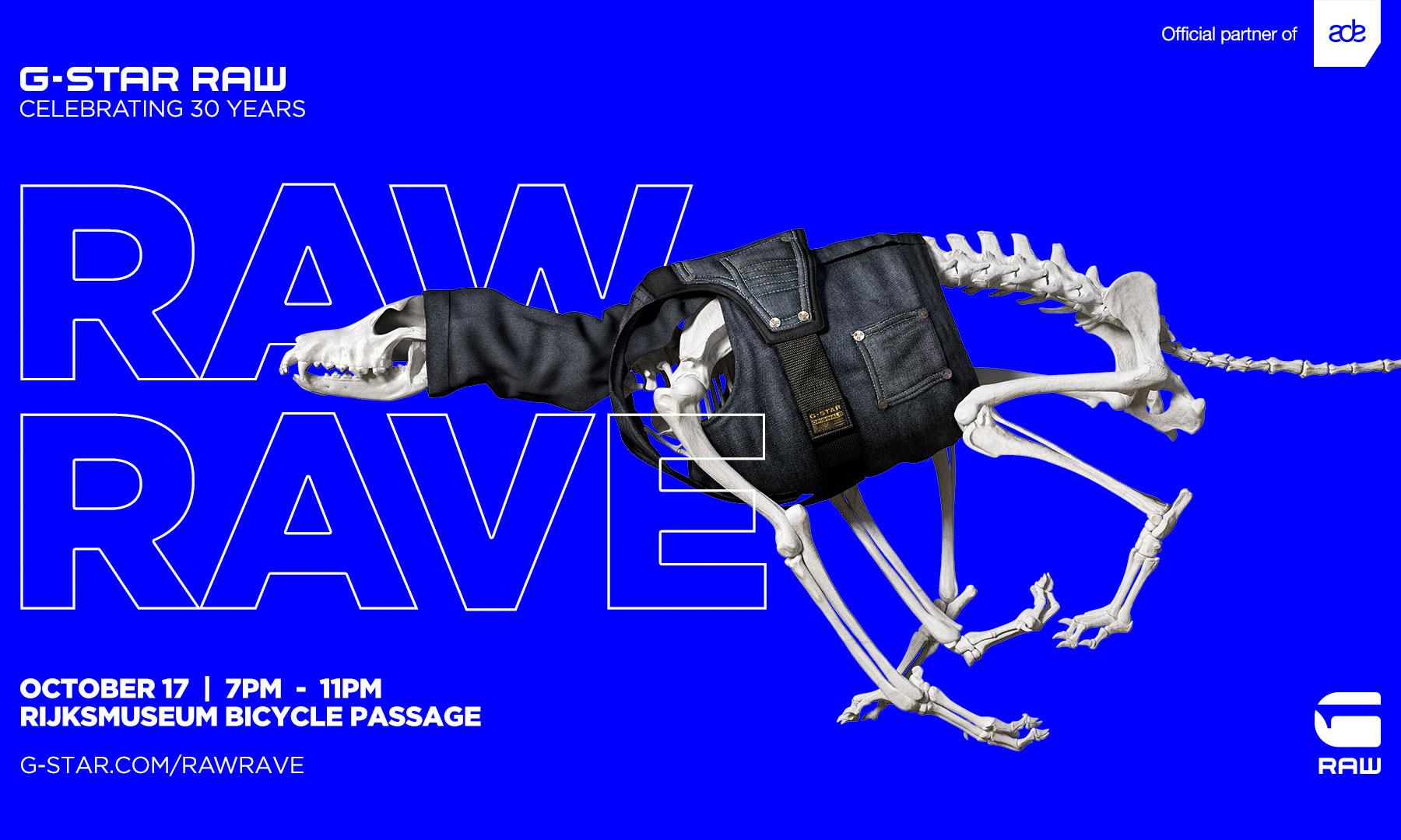庆祝 30 周年,G-STAR RAW 举办 RAW RAVE 音乐盛宴