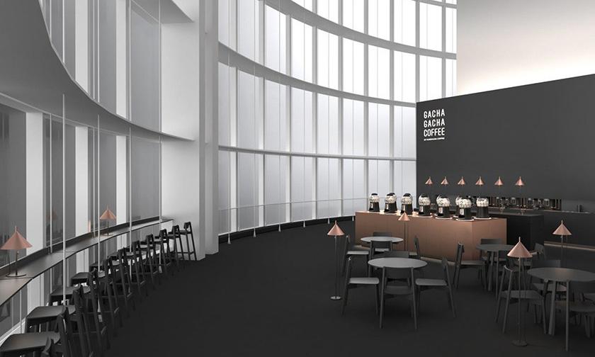 """在高空欣赏东京美景,日本设计工作室 Nendo 打造首间 """"扭蛋"""" 自助咖啡厅"""