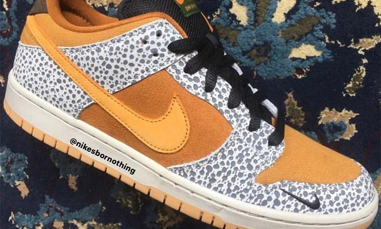 """回潮重磅期待,抢先预览 atmos x Nike SB Dunk """"Safari"""" 配色"""