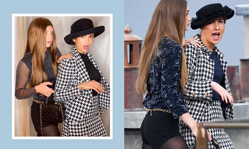 还原 Chanel 大秀突发场景,演员 Nina dobrev 的万圣节装扮引发关注