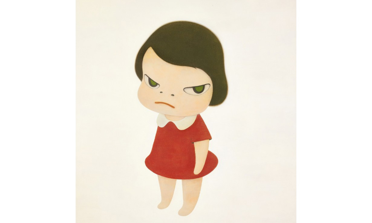 奈良美智最大画作《背后藏刀》,以 1.95 亿港币破纪录成交