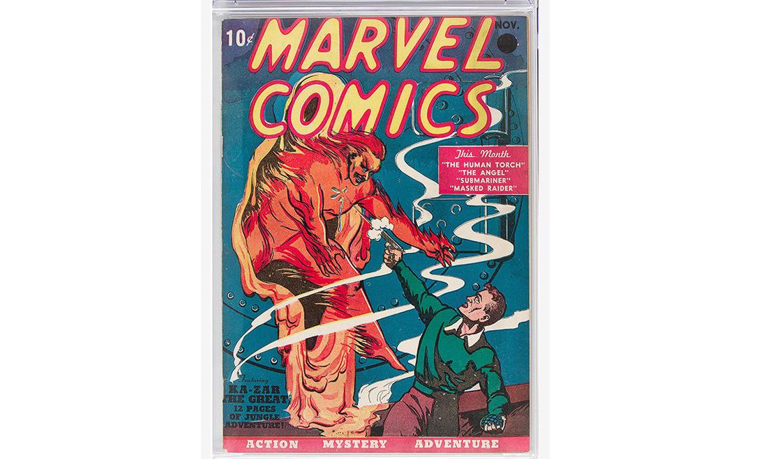 漫威 1939 年漫画副本拍出 126 万美元天价
