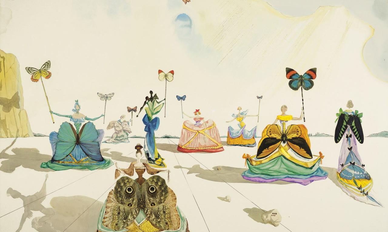 萨尔瓦多·达利 1953 年画作《蝴蝶夫人》于佳士得拍卖行出售