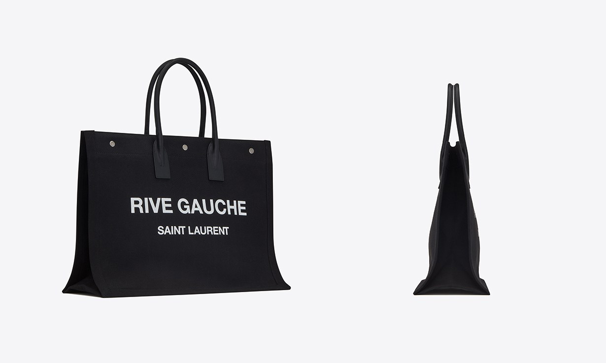 好物推荐,大容量的 Saint Laurent 新款 Logo Tote Bag 现已开售
