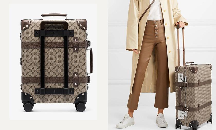 奢华旅行必备,Gucci 推出新款经典 Monogram 皮革行李箱