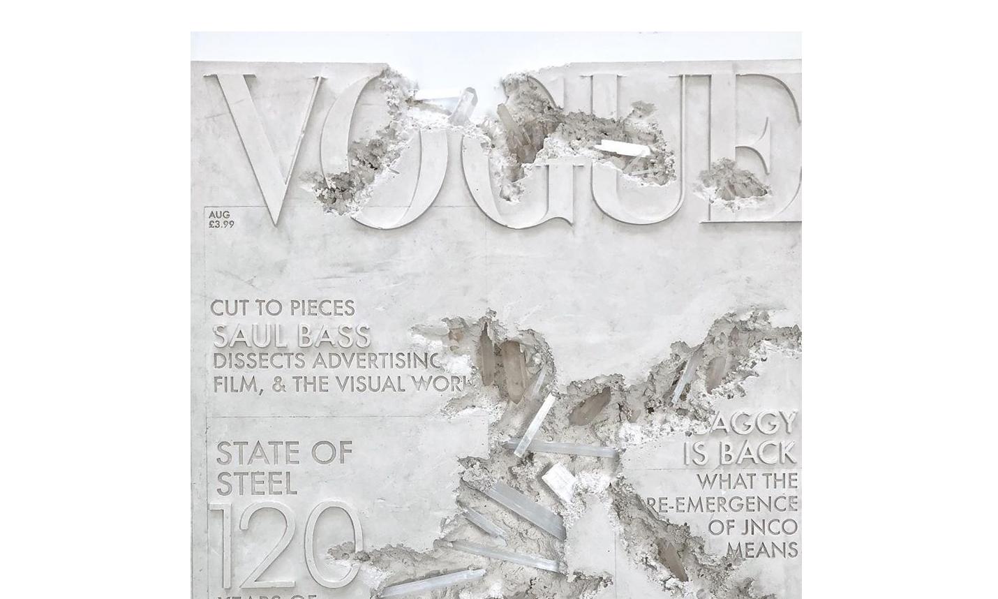 艺术家 Daniel Arsham 作品《石英腐蚀的 VOGUE 101 杂志》拍出 29 万美元