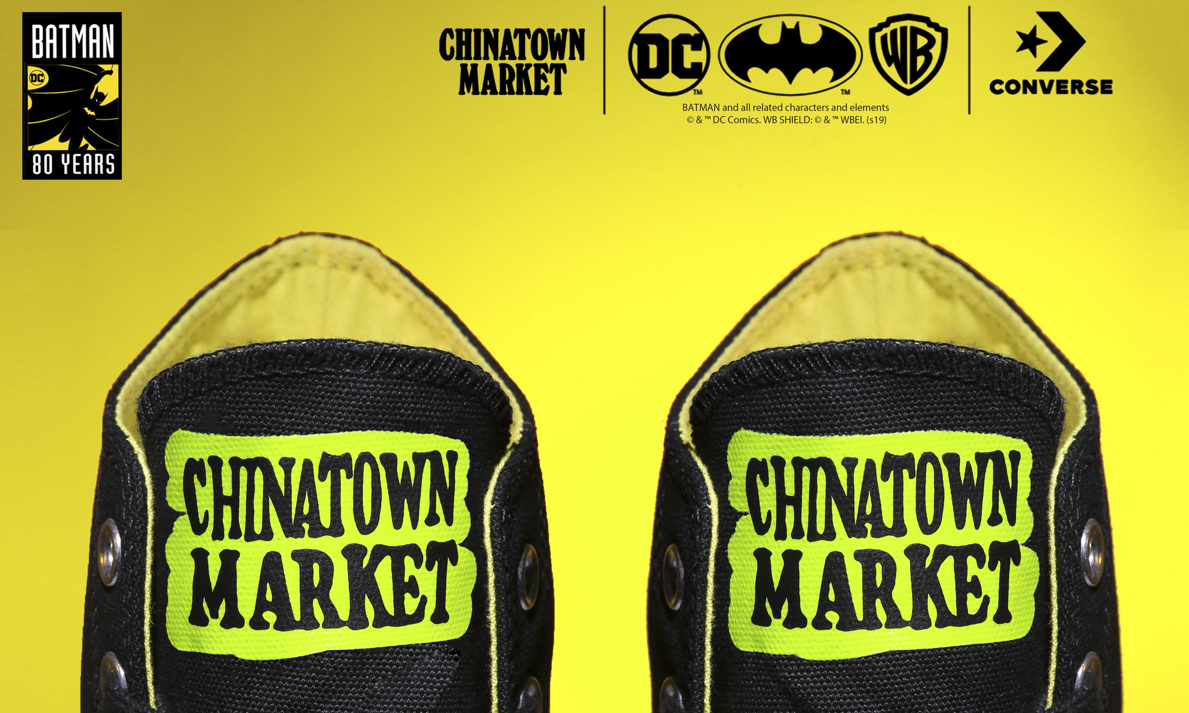 80 周年献礼,Batman x Chinatown Market x CONVERSE 联名 Chuck 70 发布