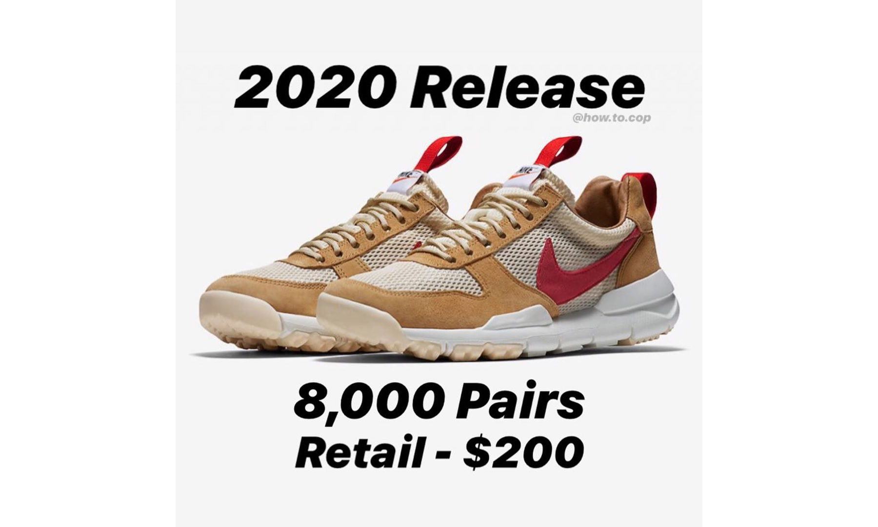 Tom Sachs x Nike Mars Yard 3.0 预计将有 8,000 双货量