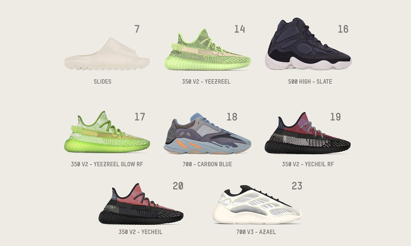 年末收官季,Yeezy 12 月发售鞋款一览
