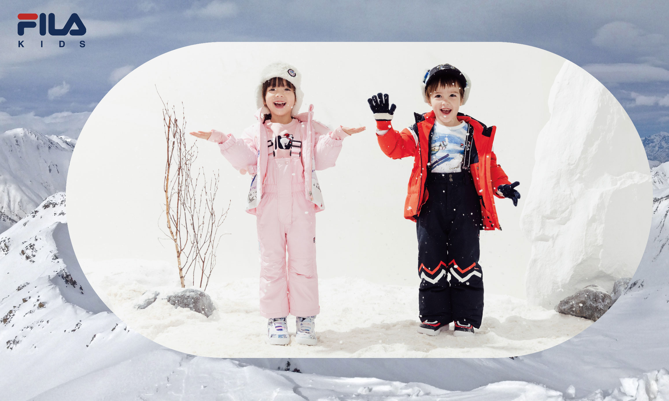 FILA KIDS 推出全新 RED LINE 冰雪奇境系列,玩转冬季雪场风尚